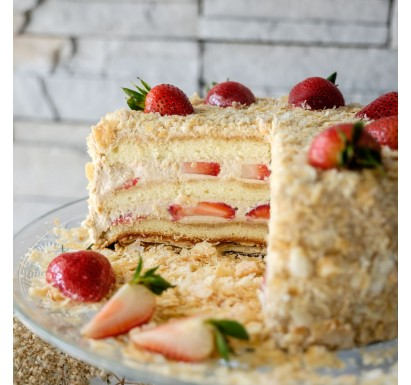Earl Grey Strawberry Shortcake - Father's Day