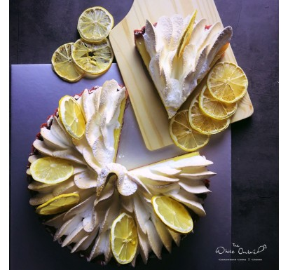 Red Velvet Lemon Meringue Tart