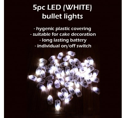 5pc LED Balloon Bullet Lights