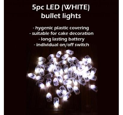 5pc LED Balloon Bullet Lights
