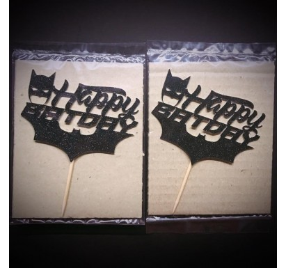 """Happy Batday"" Papercraft Topper"