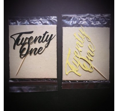 """Twenty One"" Papercraft Topper"
