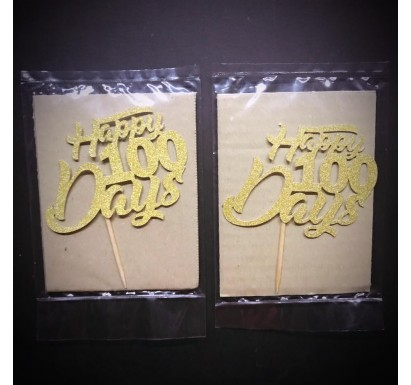 """Happy 100 Days"" Papercraft Topper"