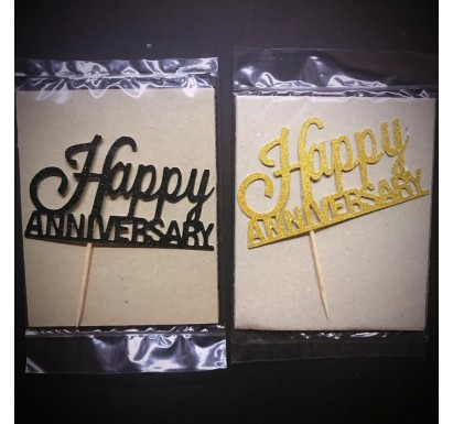 """Happy Anniversary"" Papercraft Topper"