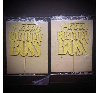 """Happy Birthday Boss"" Papercraft Topper"