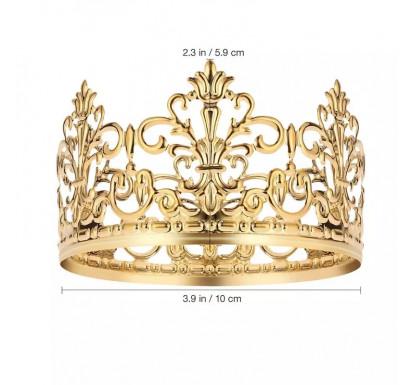 Gold Princess Crown Tiara Cake Topper