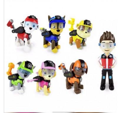 7pc Set Paw Patrol Toys