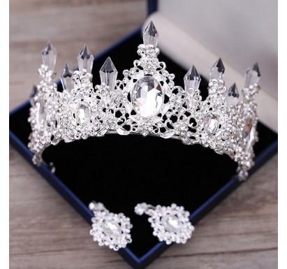 Clear Crystal Princess Crown Tiara Cake Topper