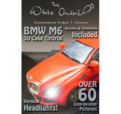 BMW M6 - 3D Car Cake PDF Tutorial