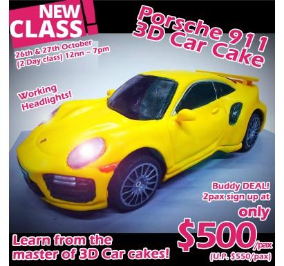 PORSCHE 911 3D Car Cake Class