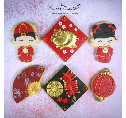 6pc CNY Shortbread Cookies