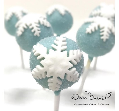 Christmas Snowy Cake Pop 10pc set