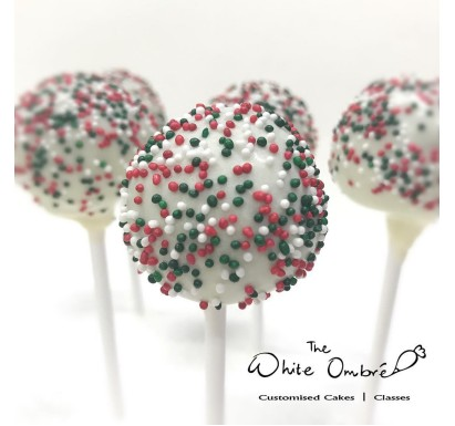 Christmas Sprinkles Cake Pop 10pc set