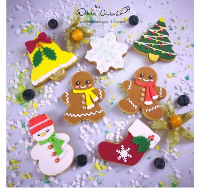 7pc Christmas Shortbread Cookies