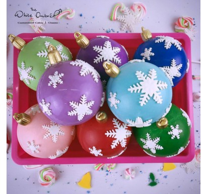 Christmas Baubles in assorted colors