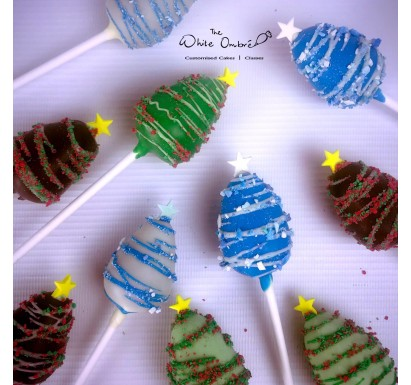 Christmas Tree Cake Pop 10pc set