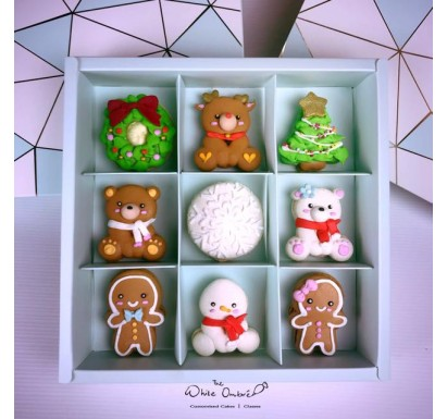 9pc Customized Christmas Macarons Gift Set