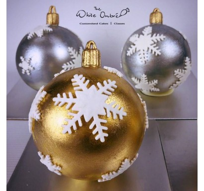 Limited Edition Gold/Silver Christmas Baubles