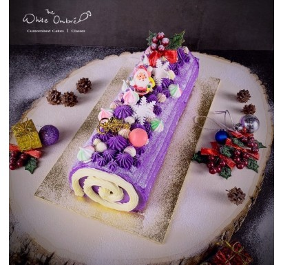 Purple Sweet Potato Christmas Log
