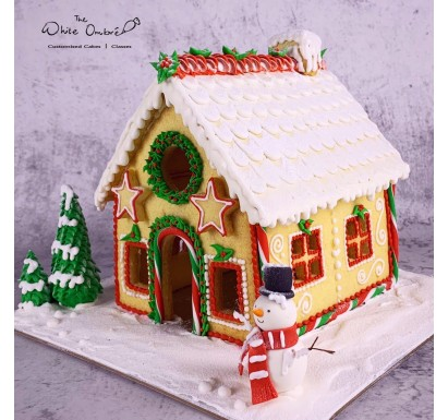 3D Xmas Shortbread Cookie House