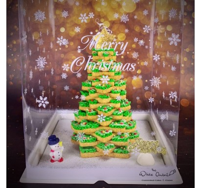 3D Xmas Tree Shortbread Cookie