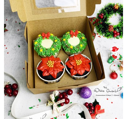 Christmas Themed Cupcakes Gift Set