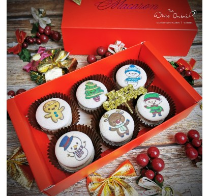 6pc Cute Christmas Macarons Gift Set