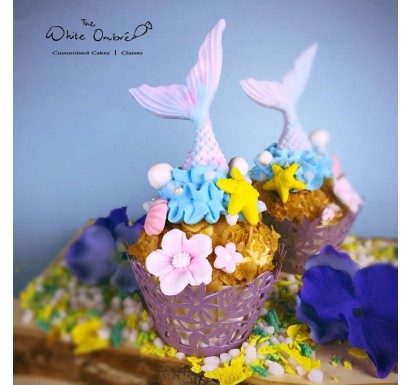 DIY Mermaid Cupcake Decorating Set - 6pc