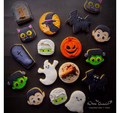 12pc Halloween Shortbread Cookies