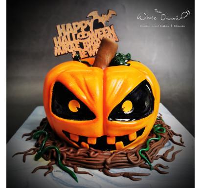 3D Jack-O-Lantern Cake