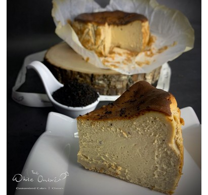 Earl Grey Brown Sugar Burnt Cheesecake