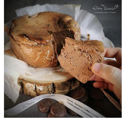 Keto 100% Dark Chocolate Burnt Cheesecake