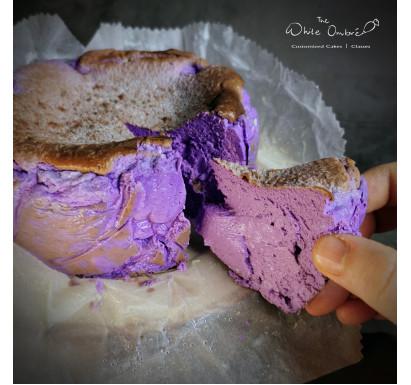 Keto Purple Yam Burnt Cheesecake