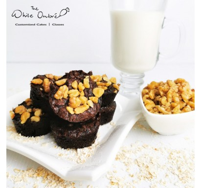 Double Chocolate Lactation Brownies with Walnuts or Almonds