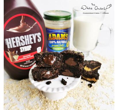 Double Chocolate Lactation Brownies with Dark Chocolate Ganache or Sea Salt Caramel