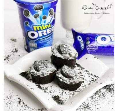 Double Chocolate Lactation Brownies with Oreos