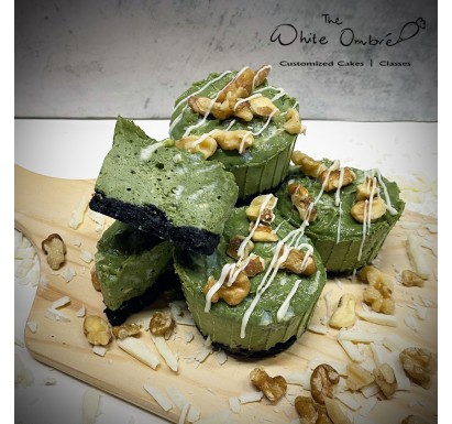 Matcha White Chocolate & Walnuts Lactation Cheesecups