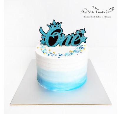Blue Ombre Smash Cake