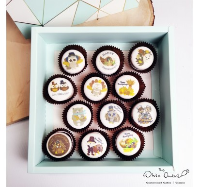 12pc Cute Thanksgiving Macarons Gift Set