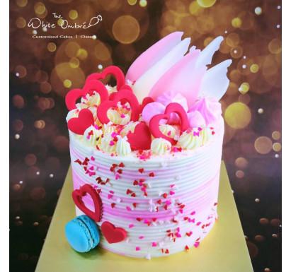 I ❤️ U Valentine's cake