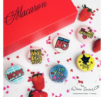 6pc Anti Valentine Macarons Gift Set