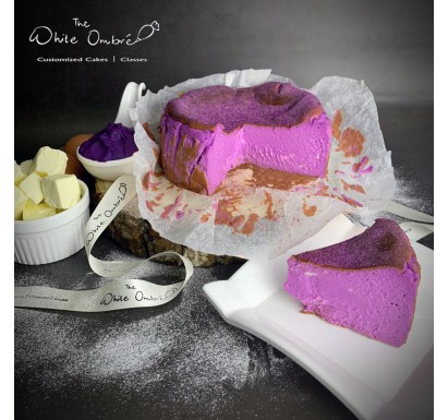 Purple Yam Brown Sugar Burnt Cheesecake