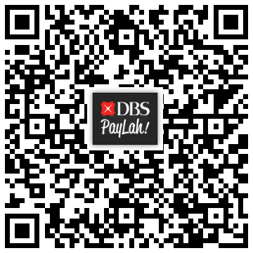 Scan our QR code for PayLah! payments